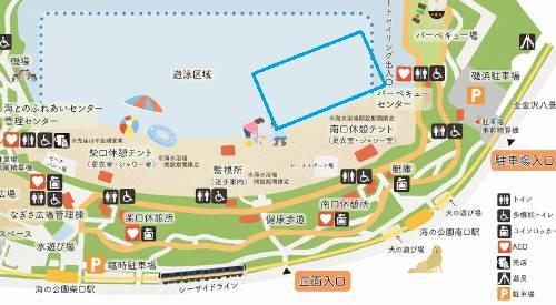 海の公園の地図