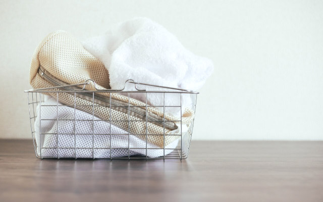 洗濯ネットで手洗い